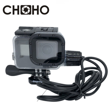 Waterproof Case Housing Diving 30M motorcycle Charging cable Protective Shell For Gopro Hero 5 6 7 Black New go pro Accessories