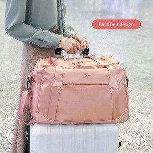 Image 3 - Moda składana torba na Fitness kobiety torba podróżna na ramię w torby podróżne torba na buty pojemna torba XA786WB