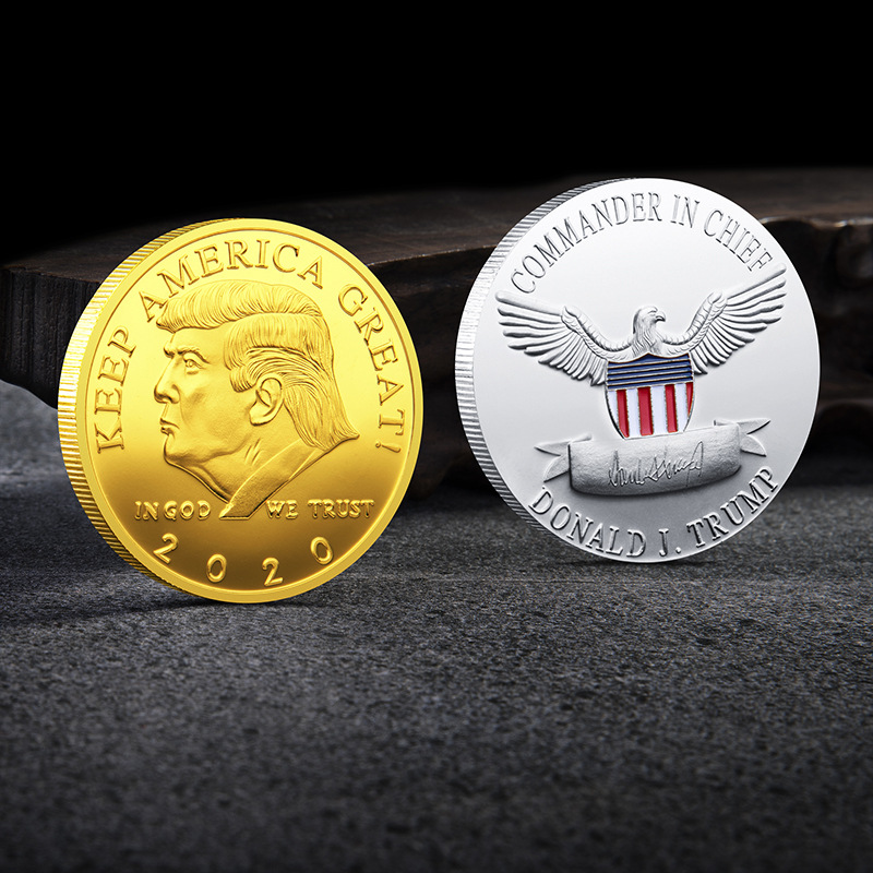 2020 Donald Trump Coins Keep America Great Metal Collective Gold Coins
