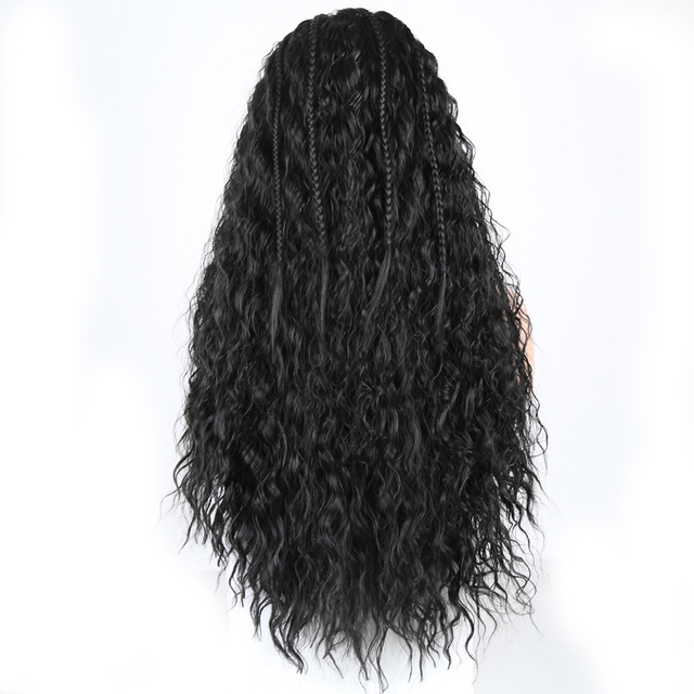 Charisma Braided Wigs Heat Resistant Fiber Hair Synthetic Lace Front Wig With Baby Hair Lace Wigs for Black Women