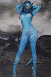 Combinaison Avatar bleu pour Couple   Vêtements pour femmes de chanteur spectacle de danse, Costume de scène bal de promo, Cosplay, tenue extensible DS