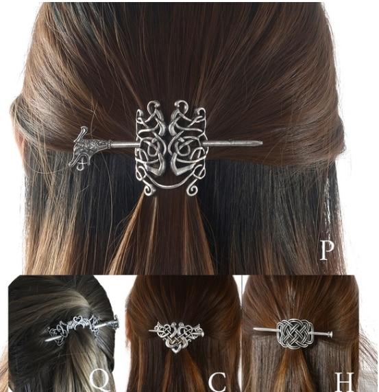 Viking jewelry runes celtic hair stick hair pin hair fork hair slide celtic art runes accessories celtic d\u00e9cor for a French twist half updos