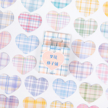 46 Pcs Dream Lattice Shop Series Bullet Journal Decorative Stationery Mini Stickers Set Scrapbooking DIY Diary Album Stick Lable