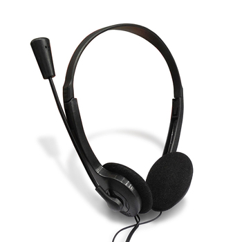 2012 3.5 Mm Headphone Wired Earphone With Microphone Noise Canceling Computer Headset Lightweight For Laptop PC School Children 1