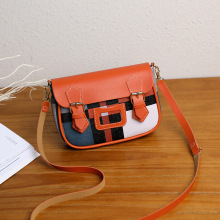 Casual Small Shoulder Bag Panelled Flap Crossbody Bags for Women Messenger Bags Fashion Lady Handbags
