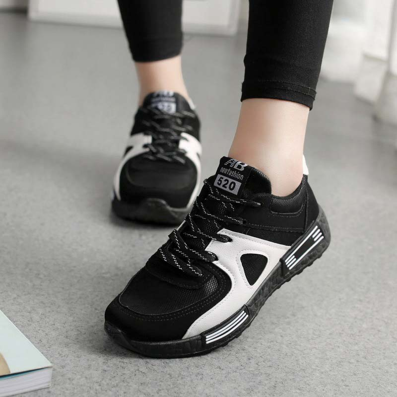 Summer Casual Shoes Woman 2019 Fashion Solid Lace-up Sneakers Women Shoes Flat With Breathable Mesh Ladies Shoes Women Sneakers