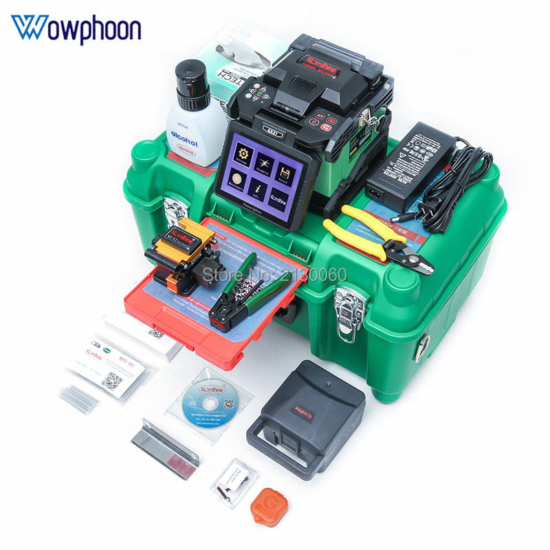 New GX37 Optic Fusion Splicer FTTH Waterproof Fusion Splicing Machine Fiber Optic Welding Machine Multi Languages