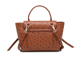 Image 4 - HIGHREAL New Customized Luxury Brand Design Women Ostrich Leather Tote Bag Clutch Tote Shoulder Bag Trendy Bag