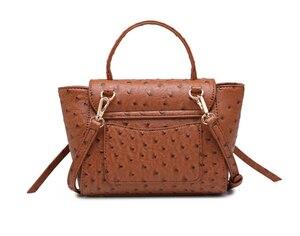 Image 4 - Highreal新しいカスタマイズされた高級ブランドデザインの女性のオーストリッチ革トートバッグクラッチトートショルダーバッグトレンディバッグ