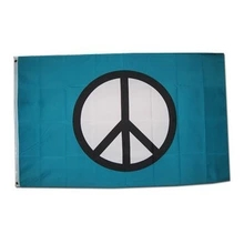 Johnin 90*150cm Peace Sign Symbol Flag