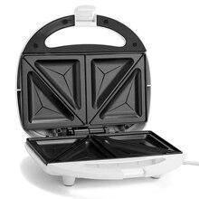 Европейский стандарт 750 Вт домашний автоматический двойной нагрев тостер, завтрак сэндвич-машина