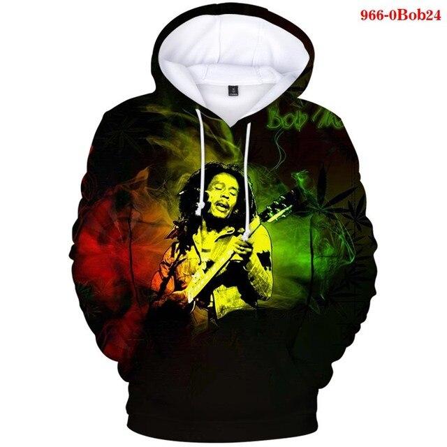 Reggae Musik Bob Marley 3D Hoodies Hip Pop Sweatshirt Übergroßen Hoodie Männer Sweatshirts Berühmte Singer-songwriter Bob Marley Tops