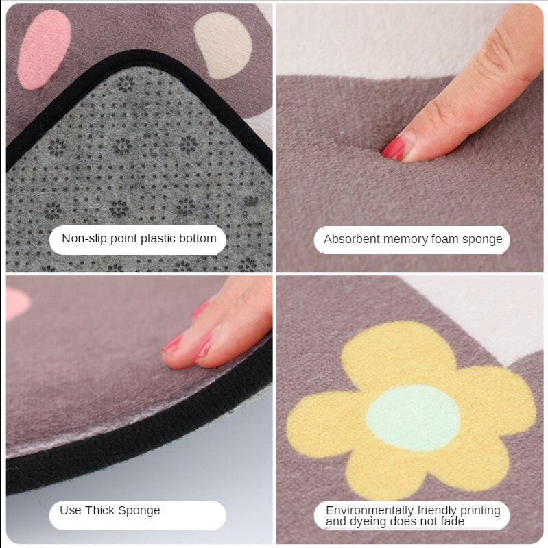 Купить коврик для спальни кухни мультяшный двери домашний абсорбирующий