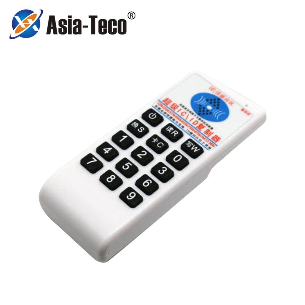 Frecuencia 125KHz 13,56 MHz, lector de tarjeta ID RFID copiadora, lector de réplicas IC, programador de copias, compatible con EM4305/5200/8800/T5577 Lector de fotocopiadora de tarjetas RFID NFC, duplicador inglés, programador de frecuencia 10 para tarjetas de ID IC y todas las tarjetas 125kHz + 5 uds. ID 125k