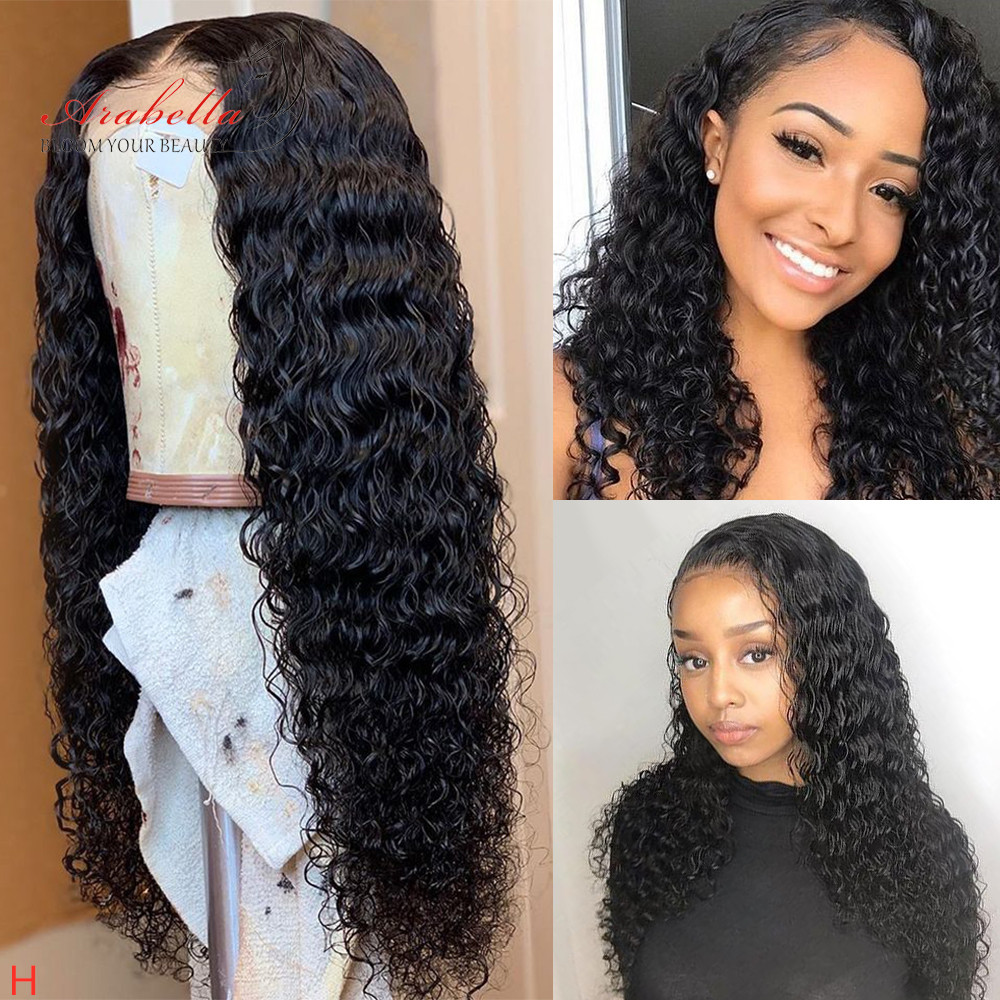 13*6 Water Wave Lace Front Human Hair Wigs Natural Hair Line With Baby Hair Arabella Soft Remy Hair 150% 180% Density Lace Wig