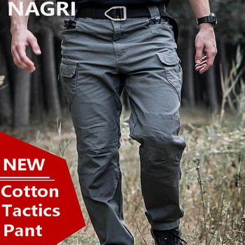 s 3xl men casual cargo pants elastic outdoor hiking trekking army tactical sweatpants camo military combat multi pocket trousers Tactical Cargo Pants Men Cotton Many Pockets Combat Pants SWAT Army Military Pants Stretch Flexible Man Casual Joggers Trousers