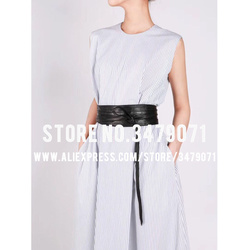 New women's vintage sheepskin girdle belt high quality strong belt Street fashion belt