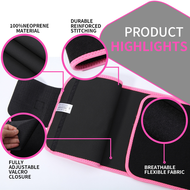 Neoprene Sauna Waist Trainer Corset Sweat Belt for Women Weight Loss Compression Trimmer Workout Fitness 2