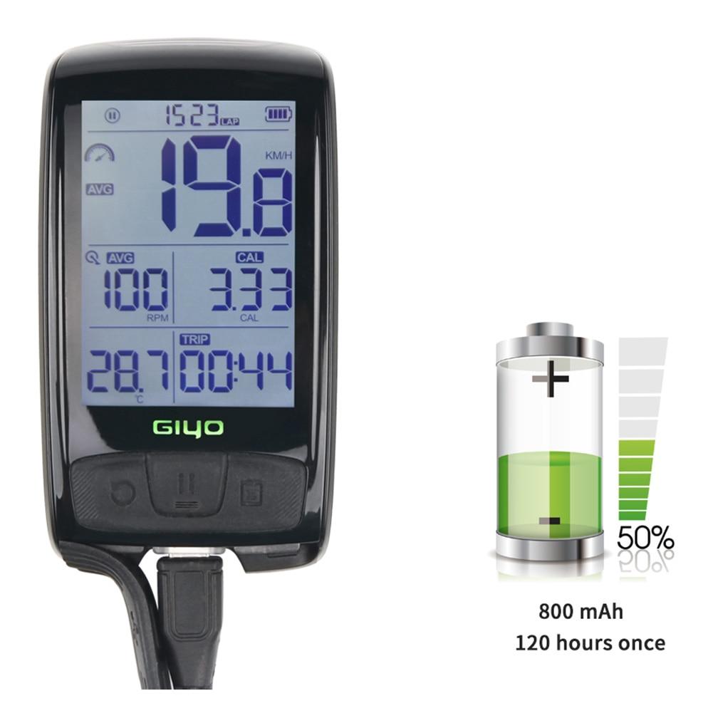 ABZB GIYO mesa de código de bicicleta Bluetooth inalámbrico para bicicleta de carretera velocímetro odómetro backlight impermeable M4 - 5