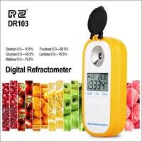 RZ Цифровой рефрактометр ЖК дисплей Brxi фруктовый сок сахарный рефрактометр для декстрона фруктоза Глюкоза лактозы мальтозы