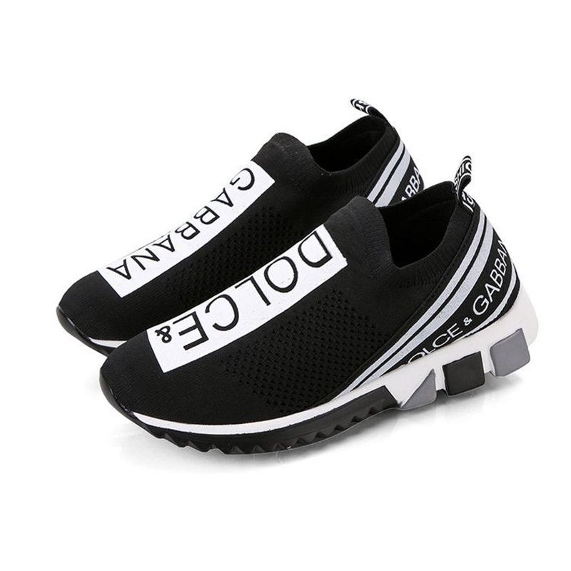 Flying Woven Breathable Round Head Letter Sports Men's Shoes Flat Men's Shoes Korean Version Of Large Size Casual Men's Shoes