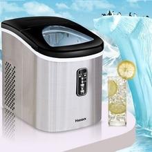 12KG Ice Maker Machine Home Small Square Ice Cube Freezing Milk Tea Shop Bottled Water Bar Desktop Intelligent Automatic Inlet