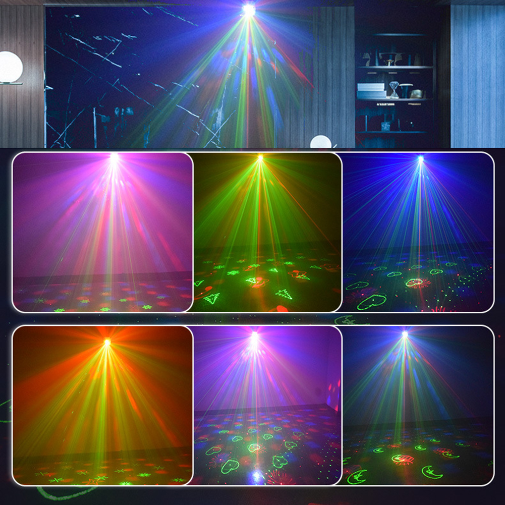 rgb luzes de palco controle voz música
