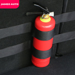 Jameo Auto Car Trunk Storage Bag Magic Tapes Fire Extinguisher Stickers for Ford Focus 2 3 4 Ecosport Fiesta Everest Kuga Escape
