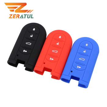 4 Button Key Cases Silicone Car Key Holder Cover Car Key Case for Perodua Kelisa Kancil Kenari Alza Viva Myvi Daihatsu Mira image