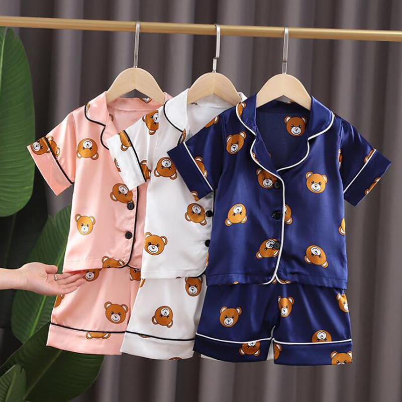 Kids Pajamas Set Toddler Sleepwear New Summer Pijamas For Boys Clothes Baby Girls pajamas Suit Boys Pyjamas Children Clothing 1