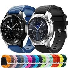 20mm 22mm Band für Samsung Galaxy Uhr 3/46mm/42mm/aktive 2/46 Getriebe s3 Frontier/S2/Sport silikon armband Huawei GT 2/2E strap