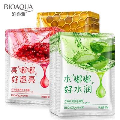 BIOAQUA Aloe Vera/Red / Collagen Mask Anti-aging Moisturizing Whitening Facial Mask Beauty Face Care Skin Care