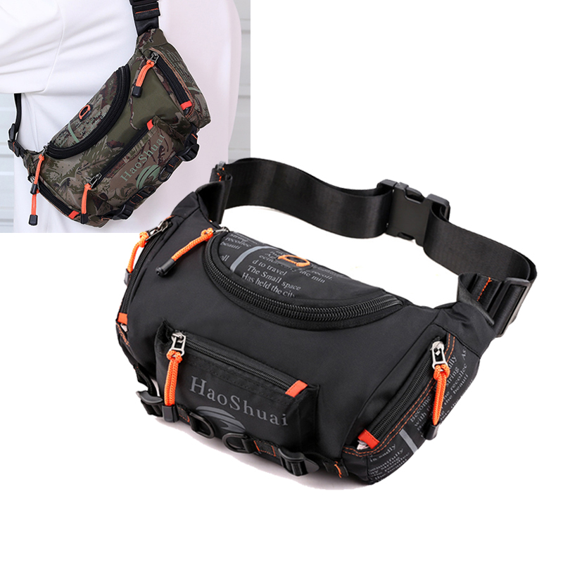 Men's Oxford Belt Fanny Pack Messenger Hip Bag Large Capacity Travel Bum Top Quality Waterproof Sling Chest Waist Bags