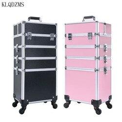 KLQDZMS Trolley Kosmetische Fall beruf koffer für make-up Frau Gepäck reise Kosmetik Tasche Räder