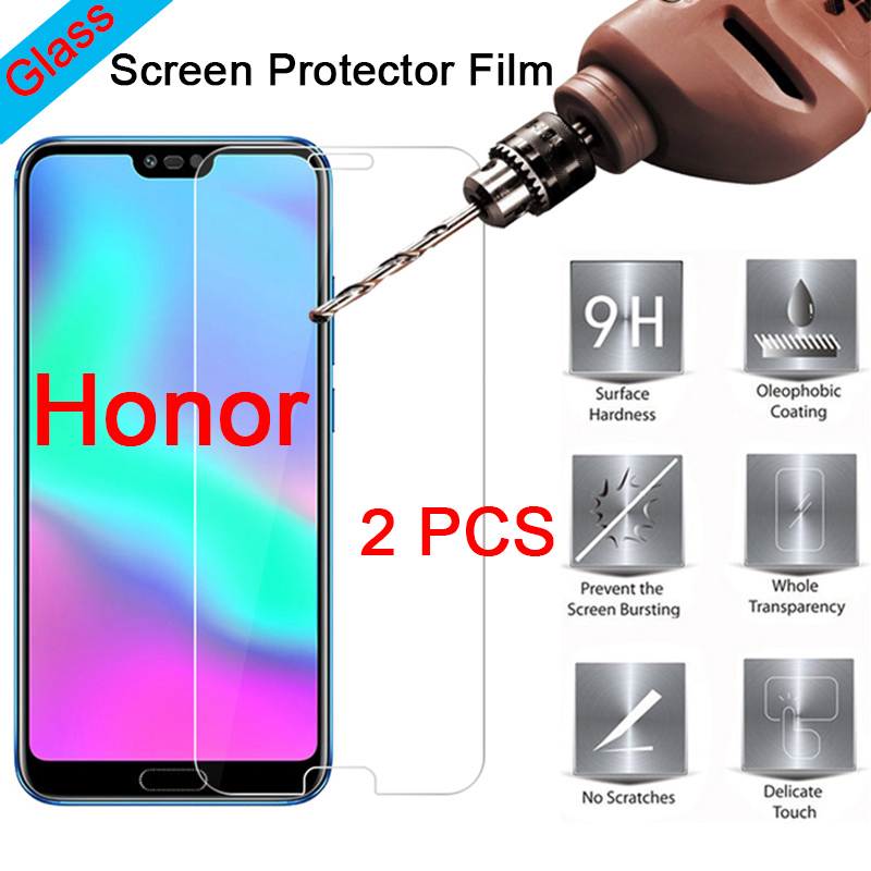 2 Pieces Tempered Glass For Huawei Honor 9X Pro 7X 6X 5X 8S 7S 9H Protective Glass For Honor 9X Pro Film Hard Screen Protector