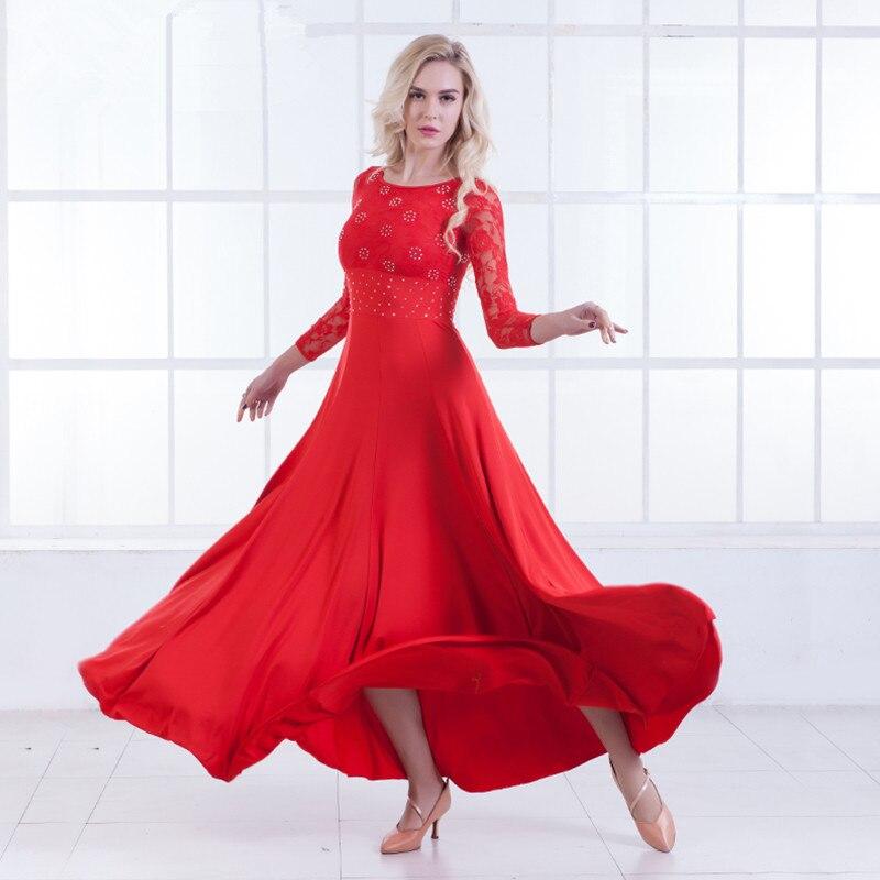 New Modern Dance Dress Long Sleeve Social Dance Dress National Standard Dance Dress Waltz Dress Performance Dress