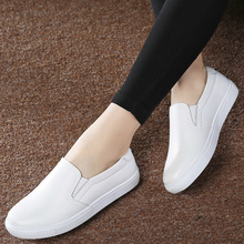 Women Shoes Flat Platform Cow Leather Casual Loafers Woman New Winter Autumn Fashion Slip-on Walking Low Cut Shoes High Quality women shoes flats height increasing 2018 leather fashion casual shoes woman flat work platform walking loafers