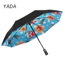 Cartoon-Umbrella Parasol Folding Rain-Sun-Anime Kids Fashion Automatic Women YADA