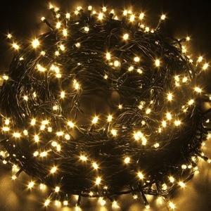 Image 3 - 10M 20M 30M 100M Wasserdichte LED Fairy String Lichter Girlande Weihnachten Party Hochzeit Weihnachten Urlaub Lichter outdoor Home Dekoration