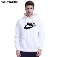 Yo-Young Men Hoodies Sweatshirts Anime Pokemon Hoodie Pikachu Funny Brand Logo Printed Unisex Casual Streetwear Quality
