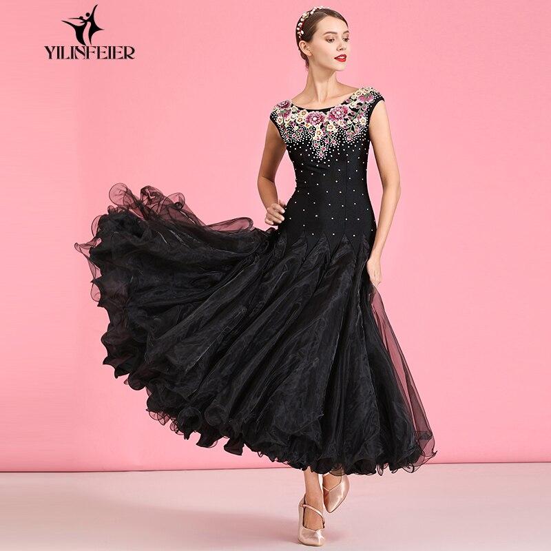 New Ballroom Dance Competition Dress Dance Ballroom Waltz Dresses Standard Dance Dress Women Ballroom Dress  S7043