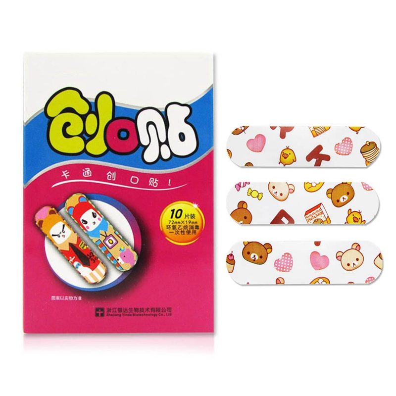 5/10/20/100Pcs/Lot Breathable Cute Cartoon Band Aid Hemostasis Adhesive Bandages First Aid Emergency Kit For Kids Children