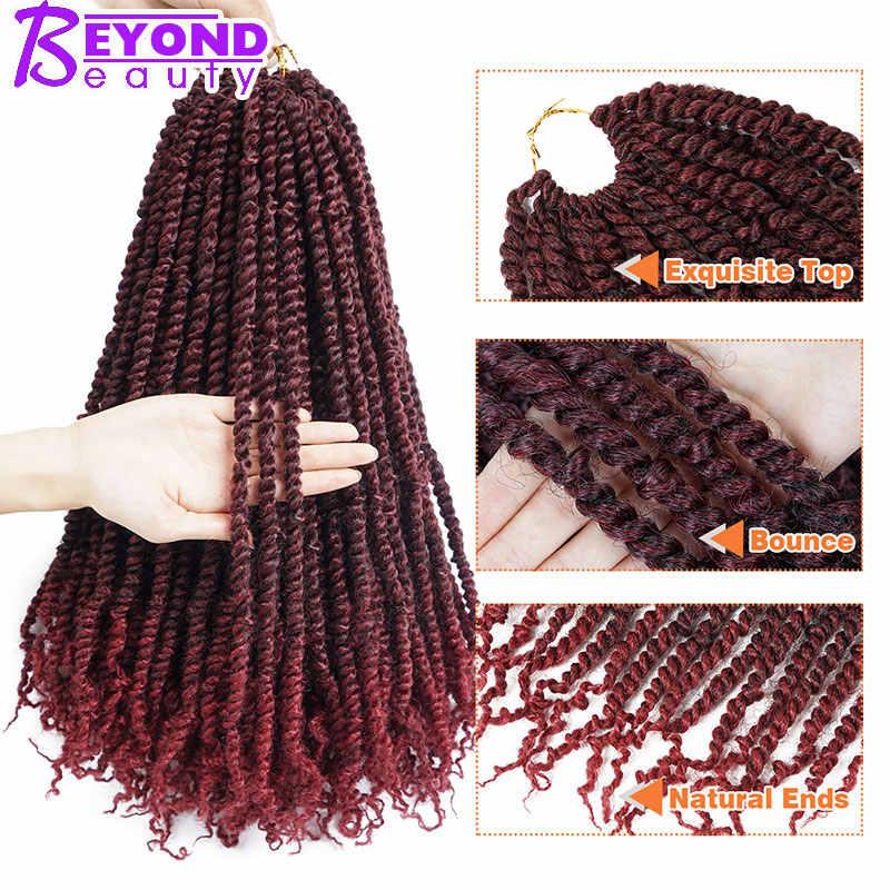 18 дюймов страсть витой плетение волос Синтетические накладные волосы на крючке, затененные, оплетки для наращивания волос 100 г/упак.