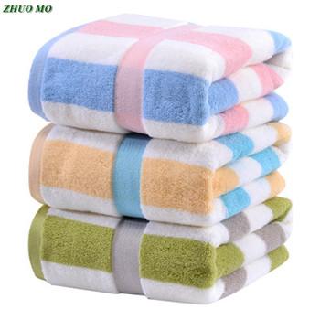 Moda w paski bawełniane ręczniki kąpielowe łazienka dla dorosłych arkusze mężczyźni kobiety Hotel spa duży ręcznik super chłonny prysznic dla domu tanie i dobre opinie ZHUO MO Zestaw ręczników Stripe Tkane Plac 120-380g M-032689 Można prać w pralce Quick-dry Sprężone 5 s-10 s Stałe