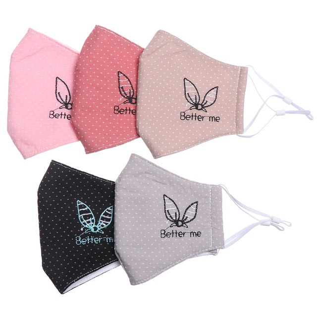 1PC Soft Reusable Mask Men Women Hot Fashion Cotton Fabric Breathable Washable Face Mouth Anti Dust Outdoor Protect 5