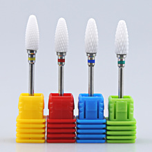 Ceramic Milling Cutter For Manicure Nail Drill Bit Burr Pedicure Tools