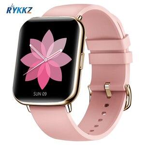Image 1 - Smartwatch l1 2021, à prova dágua, monitoramento de frequência cardíaca, lembrete de chamada/mensagem, fitness, esporte, bluetooth, para android, ios