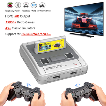 Mini 4K HDMI TV Game Console With 50000 Games With 2 Wirelless Controllers Retro WIFI Video Games Consoles For PSP/PS/GBA/GB/NES недорого