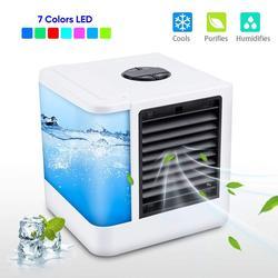 Mini klimatyzator chłodnica powietrza wentylatory USB przenośna chłodnica powietrza chłodnica powietrza Conditiioner tabela mini wentylator do domu biurowego 7 kolor światła