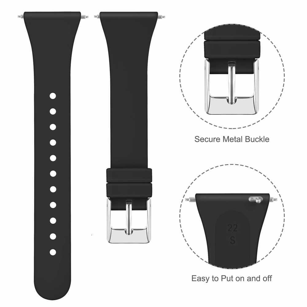 Fascia di ricambio Per Fitbit Versa 2 Banda di Silicone Sottile Sottile Stretta di Sostituzione del Cinturino Cinturino Per Fitbit Versa/Versa 2 delle donne Degli Uomini